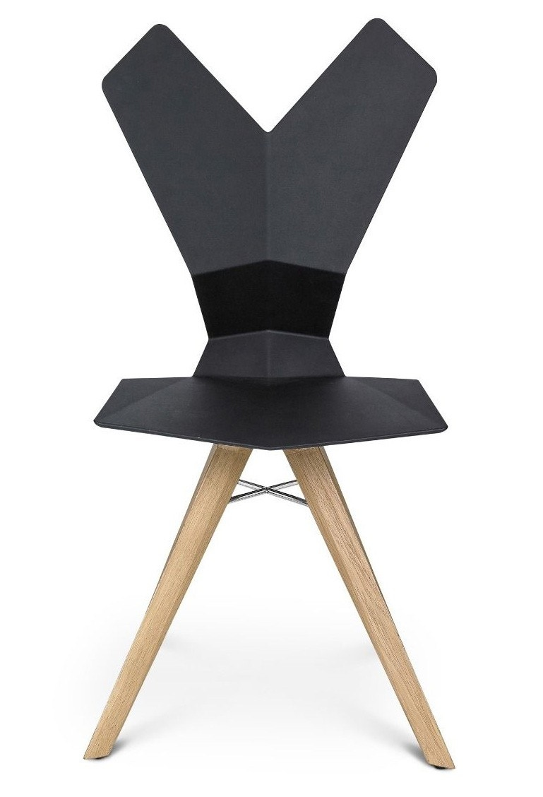 Tom Dixon Y Chair with Wood Base