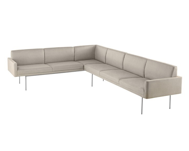 Geiger Tuxedo Component Lounge Sofa with Attached Settee or Sofa
