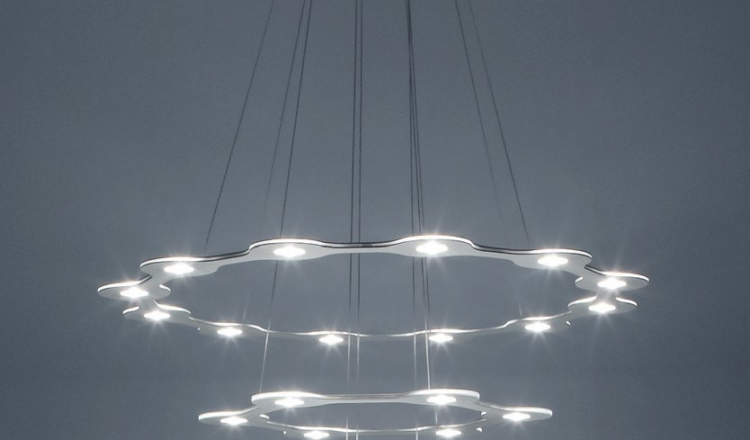 Lumen Center Italia Flat Saturn 2 Suspension Lamp