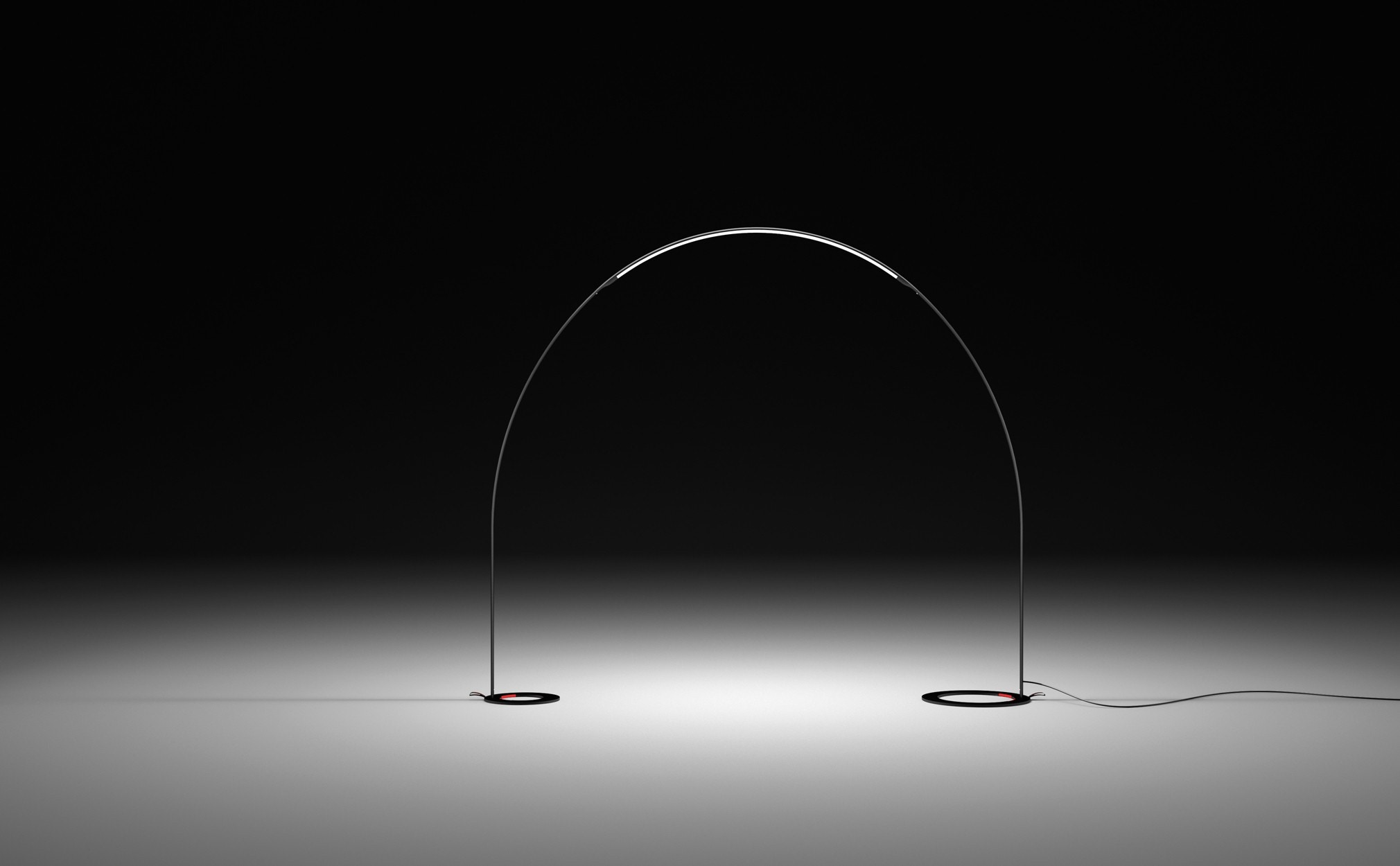 Vibia Halley Floor-to-Floor Outdoor Lamp