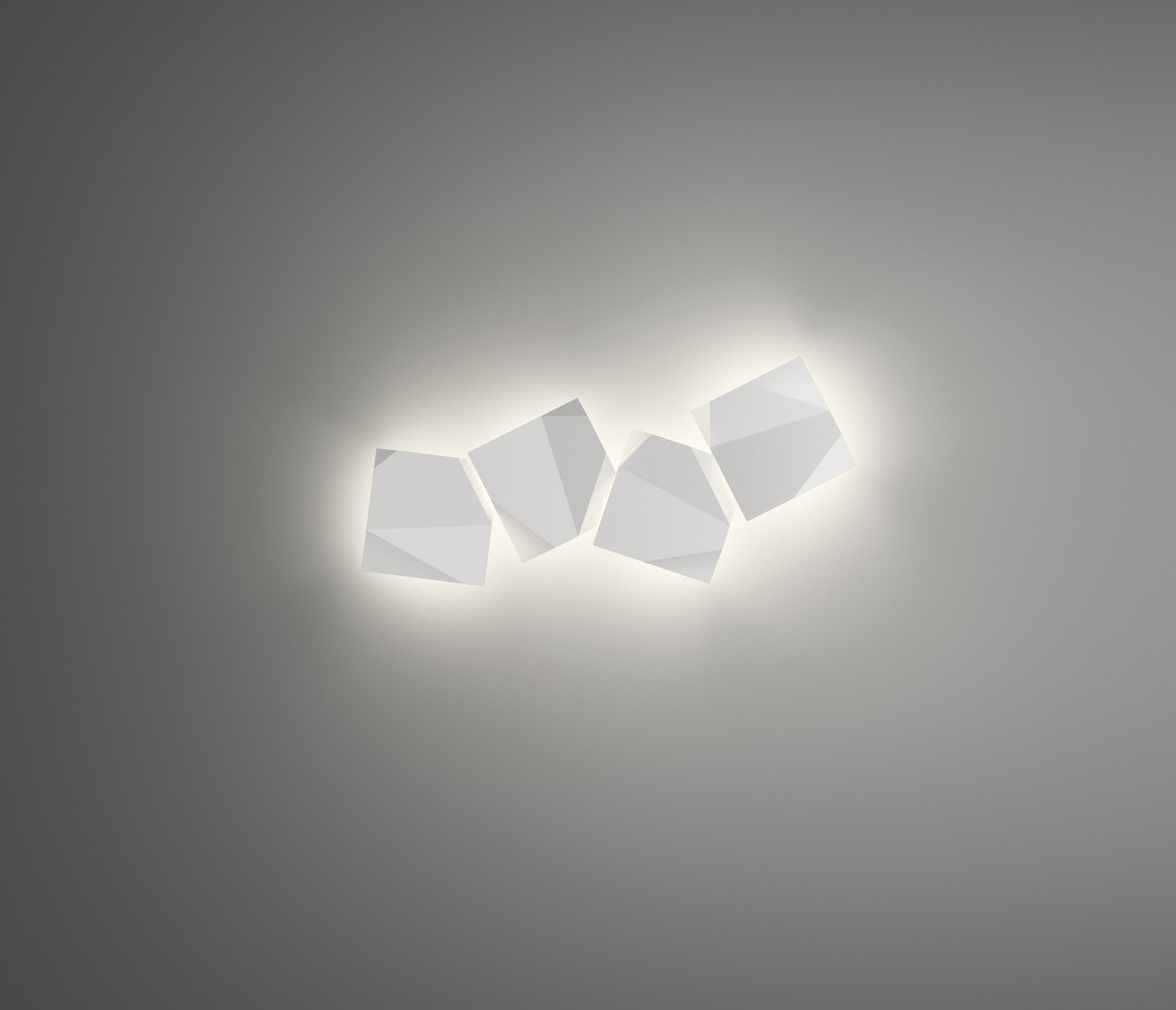 Vibia Origami Quadruple LED Wall Sconce Lamp