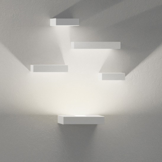 Vibia Set LED Four Reflector Block Wall Sconce Lamp