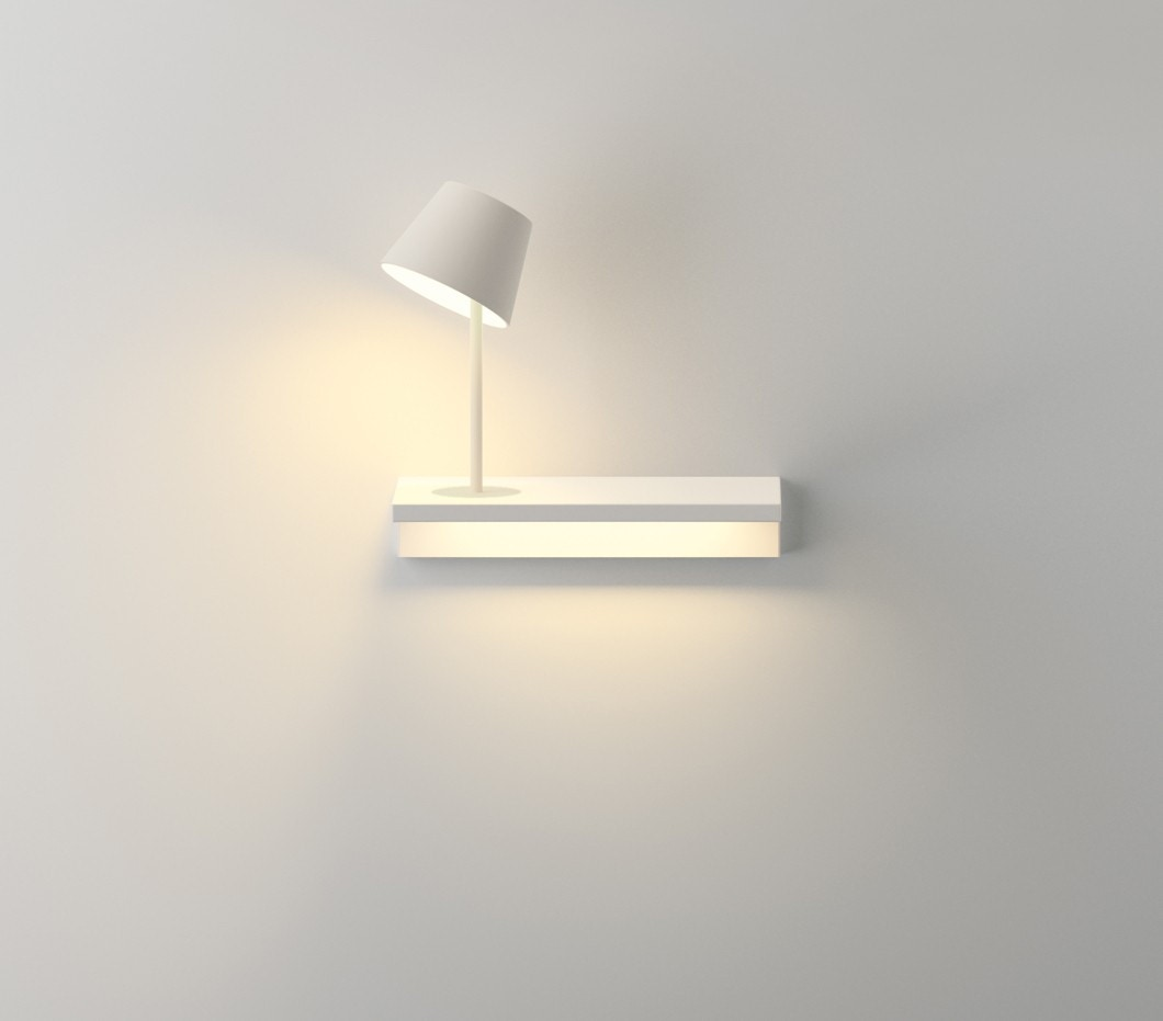 Vibia Suite Shelf and Reading Wall Lamp