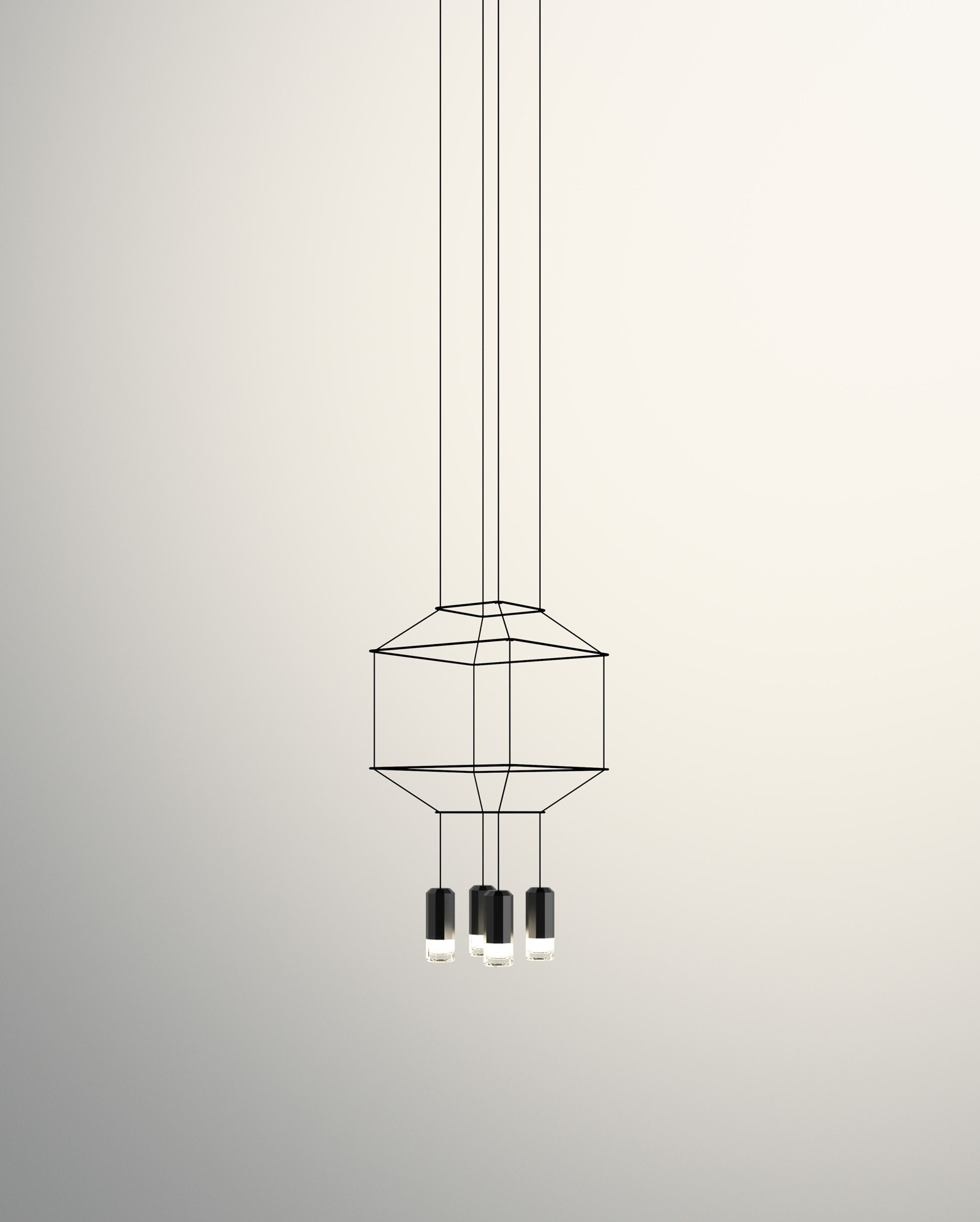 Vibia Wireflow 3D Square Pendant Lamp