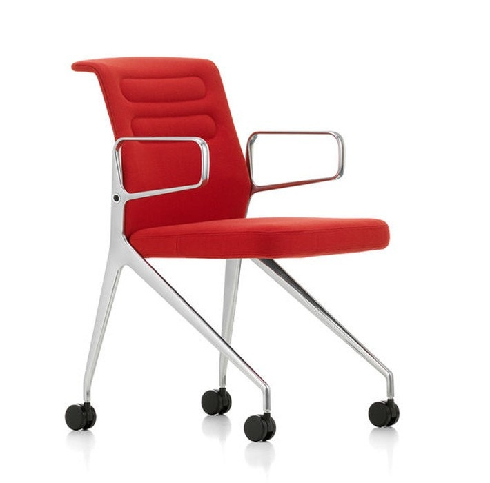 Vitra AC 5 Swift Visitor Chair (Four Leg Caster Base)