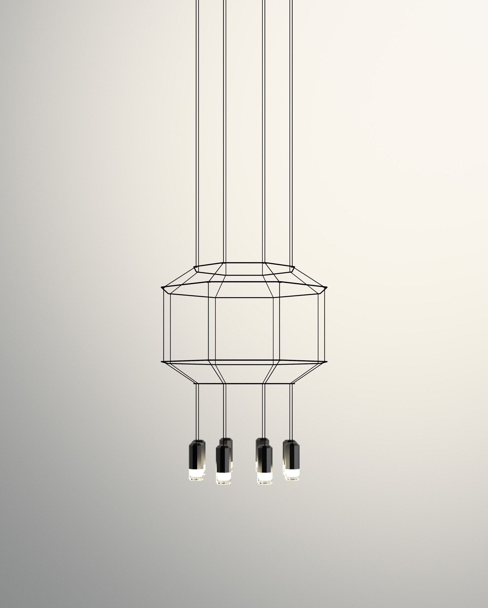 Vibia Wireflow 3D Octagonal Pendant Lamp