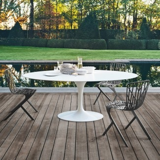 Knoll Eero Saarinen Medium Oval Dining Table, Outdoor