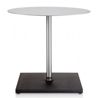 Emeco Round Brushed Cafe Table