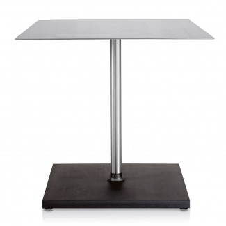 Emeco Square Brushed Cafe Table