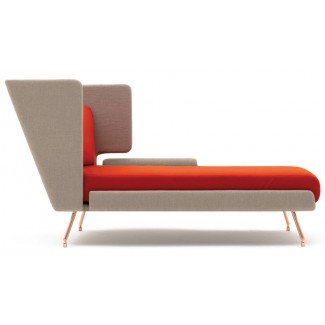 Knoll Beucler & Poggioli A&A Residential Chaise w/ High Back