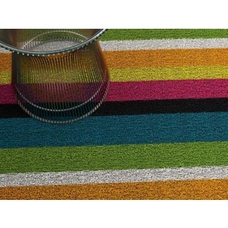 Chilewich Bold Stripe Shag Indoor/Outdoor Mats