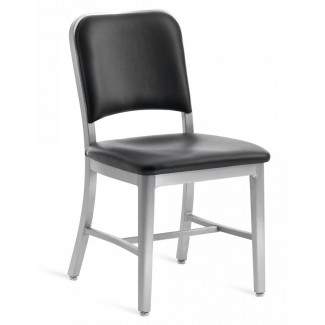 Emeco Navy Upholstered Chair