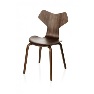 Fritz Hansen Grand Prix Chair with Wooden Legs (Laminated)