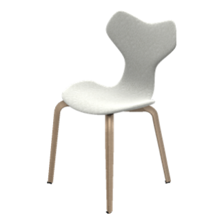 Fritz Hansen Fully Upholstered Grand Prix Chair with Wooden Legs