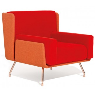 Knoll Beucler & Poggioli A&A Lounge Armchair w/ Low Back