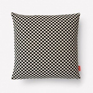 Maharam Checker Pillow, Black/White