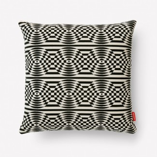 Maharam Optik Pillow, White/Black