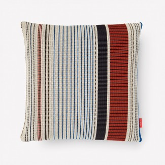 Maharam Point Pillow, Ivory and Ember