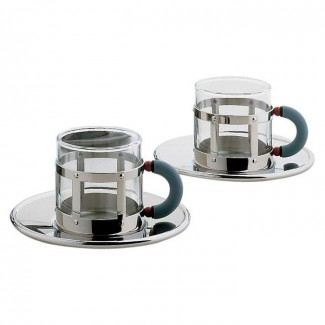 Alessi Michael Graves Espresso Cup and Saucer Set