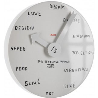 Alessi 24H Sentence Maker Wall Clock
