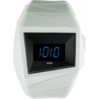 Alessi Daytimer Wrist Watch-Black/White- AL22004