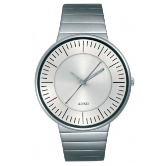 Alessi Luna Wrist Watch-Steel/Silvered White- AL8000