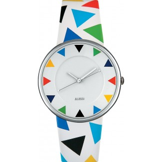 Alessi Luna Wrist Watch-White/White