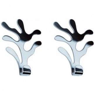 Alessi Mediterraneo Wall Hook-Set of 2