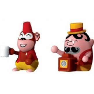 Alessi Jimmy Melody & Monkey Set of Two Figurines