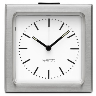 Leff Amsterdam Block Alarm Index Clock