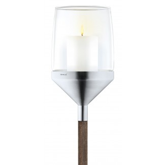 Blomus Atmo Candle Holder with Beechwood Stake