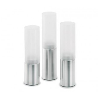 Blomus FARO 3 Piece Tealight Holder Set, Cylinder