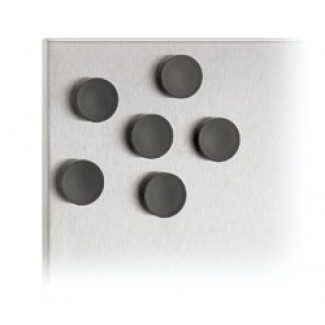 Blomus MURO Set Of 6 Magnets, Black