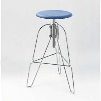 Jeff Covey Model 6 Stool Blue Seat