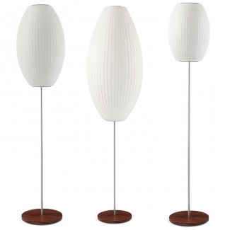 Modernica Bubble Cigar Lotus Floor Lamp With Walnut Base