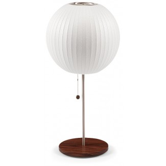 Modernica Bubble Ball Lotus Table Lamp With Walnut Base
