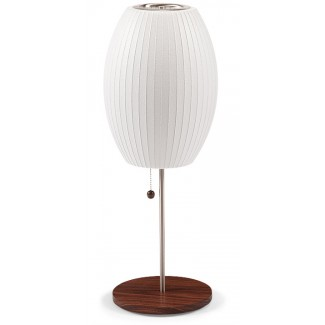 Modernica Bubble Cigar Lotus Table Lamp With Walnut Base