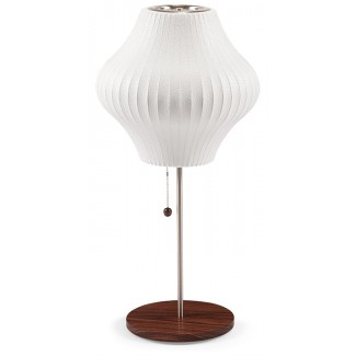 Modernica Bubble Pear Lotus Table Lamp With Walnut Base