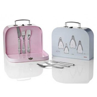 Stelton Penguin Children's Flatware Suitcase