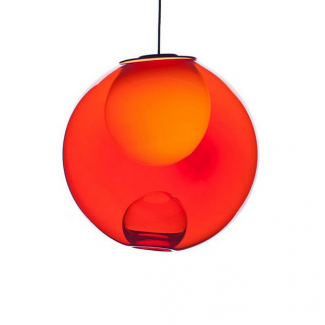 CLEARANCE - Bocci 28.1 Pendant Light - Translucent Cherry, Xenon Halogen