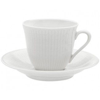 Iittala Swedish Grace Coffee Cup/Saucer - Snow