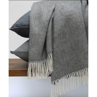 Area Bedding Colin Charcoal Throw