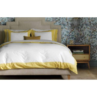 CLEARANCE - DwellStudio Modern Border Duvet Set, King, Citrine