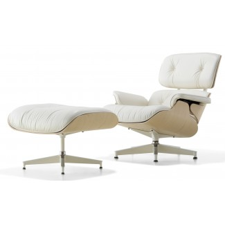 Herman Miller Eames® Lounge Chair and Ottoman White Ash
