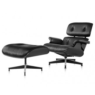 Herman Miller Eames® Lounge Chair and Ottoman Ebony