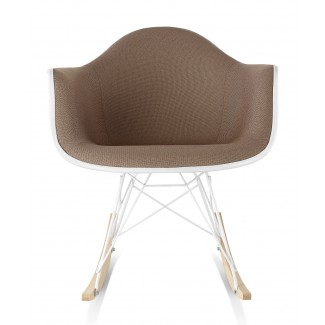 Herman Miller Eames® Molded Plastic Armchair Rocker Base Upholstered Shell