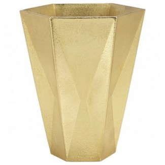 CLEARANCE - Tom Dixon Gem Vase Large, Brass