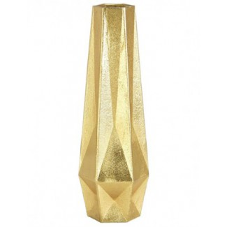 CLEARANCE - Tom Dixon Gem Vase Tall, Brass