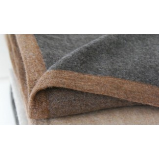 Area Bedding Hugo Reversible Brown/Grey Blanket