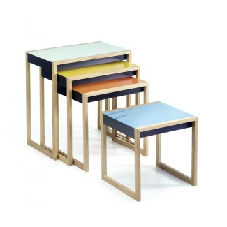 Josef Albers nesting tables, set of 4